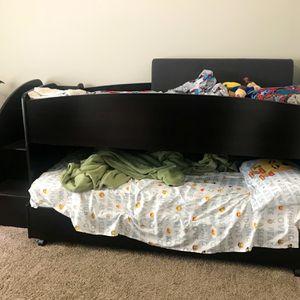 Espresso Bunk Bed w/ 2 Mattresses for Sale in Buford, GA