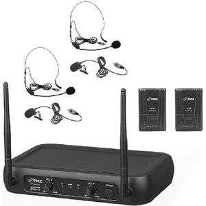 Pyle PDWM2145 VHF Wireless Microphone System, 2 Headset/Lavalier Mics, 2 Bodypacks, Fixed Frequency, Model: PDWM2145 for Sale in Phoenix, AZ