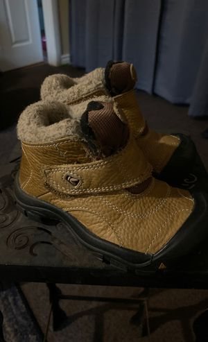 Toddler size 9 all weather leather Keen boots snow rain trail for Sale in Torrance, CA