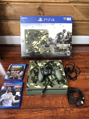 Limited edition camo PS4 with COD and FIFA for Sale in Fairfax, VA