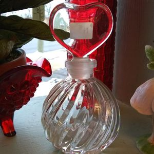 Vintage Perfume Bottle Heart Shaped Stopper for Sale in Lombard, IL