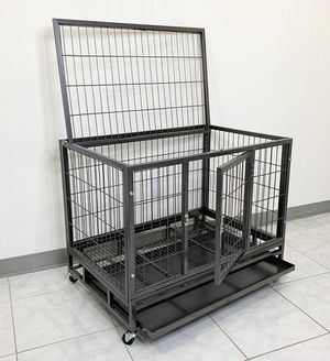 """(NEW) $120 Heavy Duty 36x24x29"""" Large Dog Cage Pet Kennel Crate Playpen w/ Wheels for Large Pets for Sale in South El Monte, CA"""