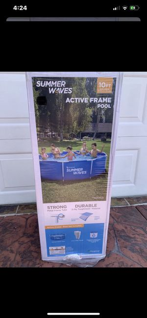 10' summer waves active frame pool for Sale in Westminster, CA