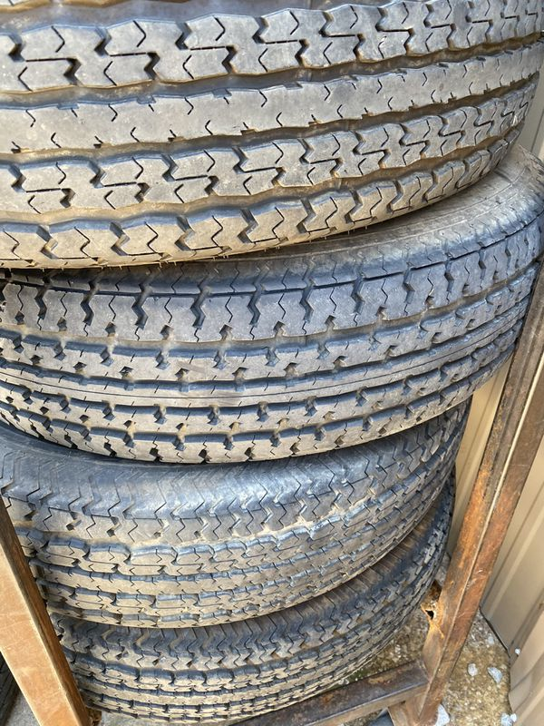 St235/80/16 TRAILER TIRES 10ply USED SET