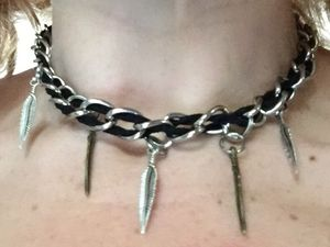 Black faux suade and chain chocker for Sale in Plainville, CT
