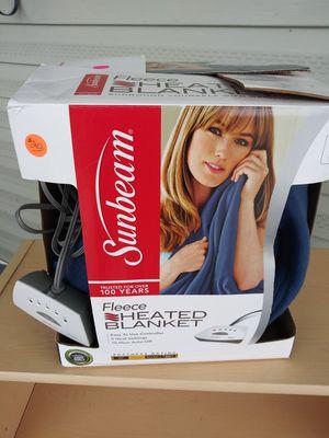 Slightly used Sunbeem Blue Twin electric blanket for Sale in St. Petersburg, FL