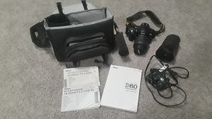 Nikon D60 18-55mm and 55-200 mm lenses for Sale in Silver Spring, MD