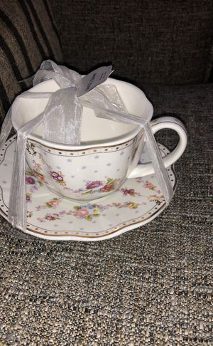 2 PCS Tea Cup With Saucer. Please see all the pictures and read the description for Sale in Bailey's Crossroads, VA