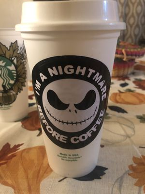 Starbucks nightmare before Christmas Hot cup for Sale in Patterson, CA