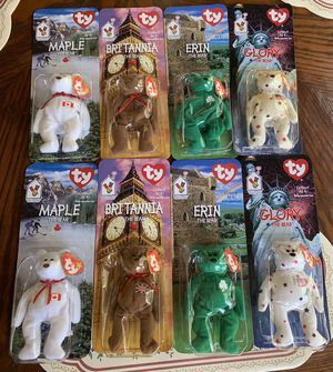 1 Set Left!Rare OAKBROOK 1993 Error Tag Retired Beanie Baby Collection Of 4 in 1999 Package for Sale in Douglasville, GA