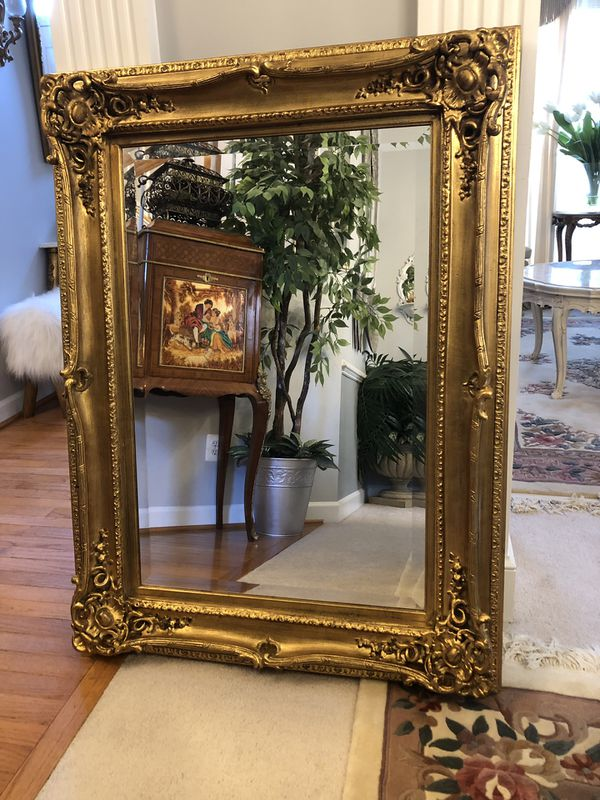 """48""""X36"""" LARGE Antique French Style Gold Wood Mirror""""SERIOUS BUYERS ONLY """""""