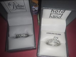 2 rings one sterling silver other plated for Sale in Fountaintown, IN