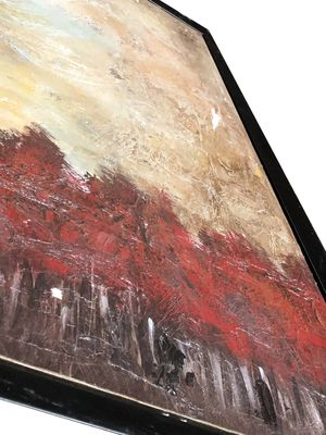 Framed Red Forest Painting for Sale in Los Angeles, CA