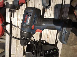 18 Volt Bosch cordless tool set. 2 drills (i torque) 1 reciprocating saw, i skill saw, 2 batteries, 1 charger, carry bag. All very good working orde for Sale in Pueblo West, CO