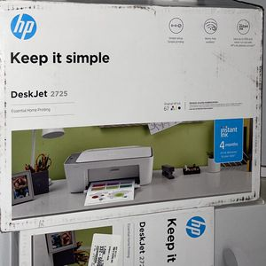 Hp Desk jet 2725 Printer Come With Ink Brand New Box Sealed for Sale in Bridgeview, IL