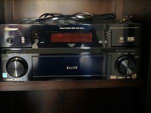 Pioneer elite receiver + Home theater (Definitive speakers) for Sale in Manhattan Beach, CA