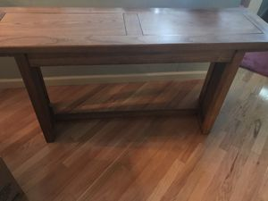 Solid Wood Light Brown Sofa Table for Sale in Cherry Hill, NJ