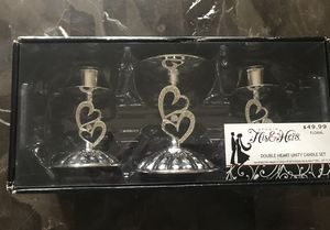 Double heart unit candle holder for Sale in US