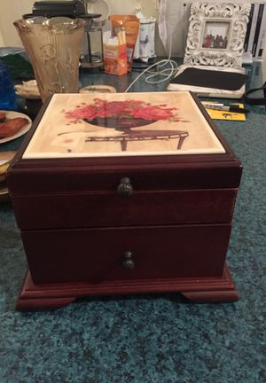 Wood Floral Jewelry Box for Sale in New York, NY