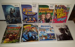 Wii Games. $10ea. SPORTS resort $20 for Sale in Mifflinburg, PA