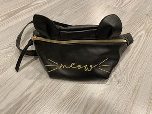 Cat ears meow black fanny pack bag for Sale in Silver Spring, MD