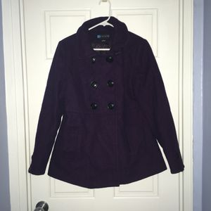 Relativity purple with button front wool blend coat, medium for Sale in Arlington, VA