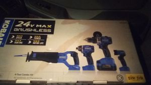 Kobalt 24V MAX BRUSHLESS 4 PC. COMBO SET for Sale in Tacoma, WA