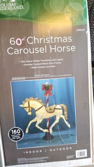 """60"""" christmas carouseo horse for Sale in Fontana, CA"""