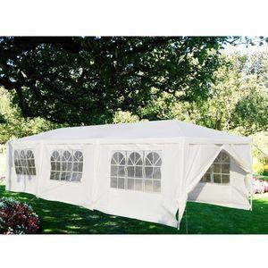 Wedding Party Gazebo 10'x30' Outdoor Tent Backyard Events Canopy White Side Walls Zipper Ends Steel Frame Waterproof Heavy Duty for Sale in Sacramento, CA