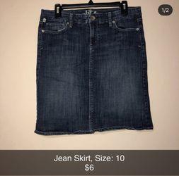 Jean skirt for Sale in Wichita,  KS