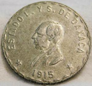 1915 Un Peso Silver, Moneda Provisional Oaxaca México, Scarce. (E48387) for Sale in Anaheim, CA