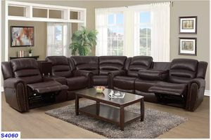 Brand new Reclining set brown leather for Sale in Puyallup, WA