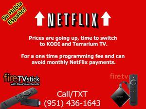 Bye Netflix, Amazon Fire TV Stick with Terrarium TV for Sale in Riverside, CA