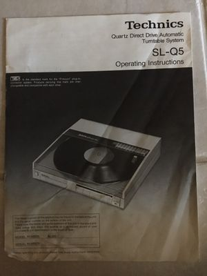 Technics Turntable for Sale in Cypress, TX