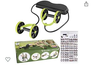 Power Roll Ab Roller Wheel Trainer For Abdominal And Full Body Workout Fitness for Sale in Riverside, CA