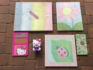 Hello Kitty and Floral Girl/Kid's Room Decor (Willing to separate for a fair price!) for Sale in Oviedo, FL