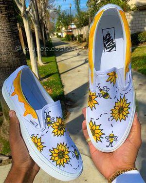 SUNFLOWER + BEE VANS Custom shoes for Sale in Corona, CA