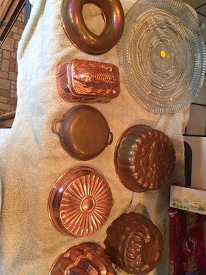 Copper jello molds for Sale in Palo Alto, CA