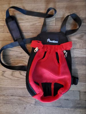 PAWABOO DOG CARRIER HANDS FREE PET DOG CAT BACKPACK (SMALL SIZE) RED /BLACK PRE-OWNED IN GOOD CONDITION for Sale in East Compton, CA