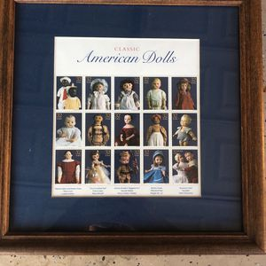"""Framed Vintage Classic American Dolls Stamps Approx 11.25""""x11.25"""" for Sale in Coronado, CA"""