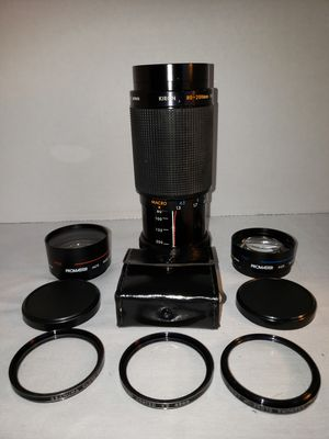 Vtge Kiron 80 - 200mm Macro 1:4 MC Camera Lens Kino Precision Japan w/ accessories for Sale in Cleburne, TX