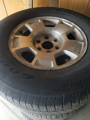 Tahoe, Silverado GM wheels and tires 17 inch for Sale in Schenectady, NY