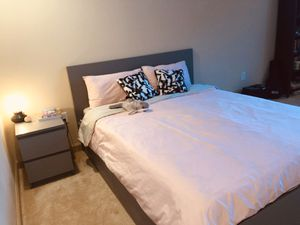 IKEA Bed and Night Stand set almost brand new on Sale for Sale in Randolph, MA