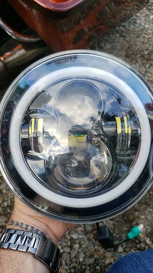 Brand new halo led angel eyes headlight with blue halo ring. for Sale in Arlington, WA