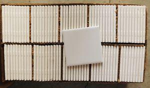 American Olean Glazed Ceramic Tile - White - 100 Count - Mint for Sale in La Habra, CA