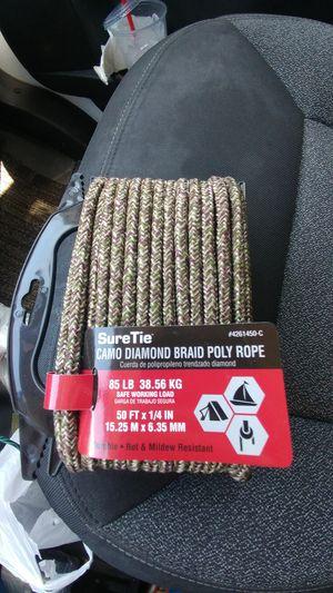Sure tie camo diamond braid poly rope. for Sale in Bloomington, IL