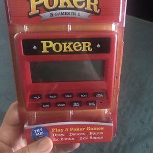 Poker 5 games in 1 handheld for Sale in Santee, CA