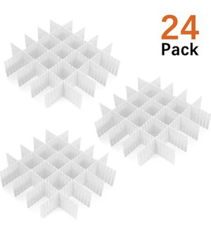 """24 Pcs Plastic DIY Grid Drawer Divider Household Necessities Storage Thickening Housing Spacer Sub-Grid Finishing Shelves for Home Tidy Closet Statio for Sale in Alhambra, CA"