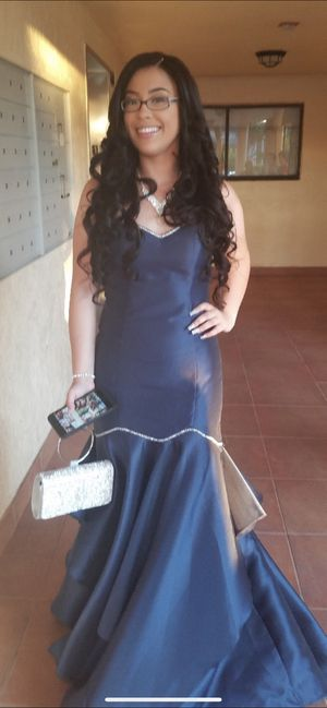 NAVY BLUE SILVER LINING PROM DRESS for Sale in Plantation, FL