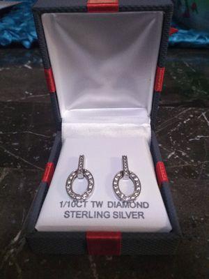 Silver Diamond Earrings for Sale in Fresno, CA